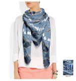 Punkt-Muster-Seide-Schal