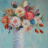 Met de hand gemaakte Olieverfschilderij van het Stilleven van diverse Bloemen het Moderne