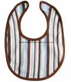 Bavoirs bleus faits sur commande de bébé de logo du Jersey de coton d'impression de POINT de produit d'usine de la Chine