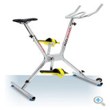 Ciclo sob a bicicleta do ciclo do Aqua da água
