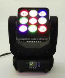 단계 디스코 DJ 장비를 위한 1개의 LED 매트릭스 이동하는 맨 위 조명 효과 빛에 대하여 9X10W RGBW 4