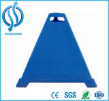 600mm hoher blauer Pyramide PET Kegel zur Verkehrssicherheit