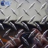 Hoja de aluminio en relieve en estuco de diamantes Comprobador de precio de la placa de aluminio
