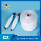 502未加工縫う糸のための白20sのポリエステルによって回されるヤーン