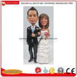 Ткань из чесаного Polyresin свадьбы головки сувениров Bobblehead Рекламные сувениры