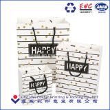 Китай заводской логотип поставщика печать подарочный бумажный мешок с ручками