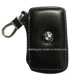 BMW-schwarzer erstklassiger lederner Auto-Schlüsselketten-Münzen-Halter-Reißverschluss-Kasten