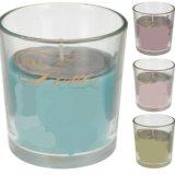 Frasco de vidrio vela de elegante diseño