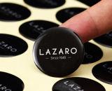 Costume suas da abóbada desobstruída relativa à promoção da resina do logotipo etiquetas de anúncio epoxy