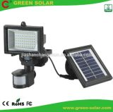 Luz psta solar do sensor de movimento do Sell quente com 54LED