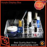 Maquillaje cosméticos Caja de madera giratorio titular de la caja de almacenamiento.
