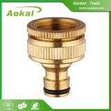 """1/2 """" ~3/4 """" di adattatore d'ottone adatto del colpetto del tubo flessibile dell'impianto idraulico d'ottone del connettore"""