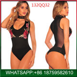 2018 Frente Popular Hollow lingerie sexy com estampas florais bordados
