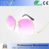 Óculos de sol Rimless relativos à promoção das mulheres da lente do oceano dos vidros de Sun do metal