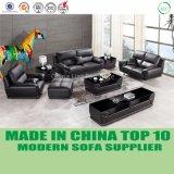 Nuovo sofà del cuoio del salone di disegno del nero domestico della mobilia