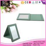 Nouveau cuir miroir cosmétique miroir de maquillage (8322)