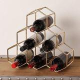 Rek van de Wijn van de Plank van de Wijn van het Metaal van het Rek van Deco Sorage van het Huis van de Gift van Kerstmis het Stapelbare