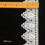 bande de lacet de type de cru d'usine de 8cm garnissant la garniture nuptiale de lacet de guipure personnalisée garnissant le lacet Hmhb957