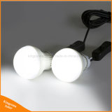 Duas lâmpadas de LED para interior da lâmpada de luz de energia solar para Garden Camping