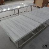 대리석 수지 백색 단단한 지상 인공적인 돌 대중음식점 테이블