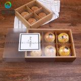 Pastelarias esquadradas pequenas transparentes feitas sob encomenda que empacotam a caixa de Priniting da gaveta