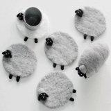 Nuevas ideas de productos de 2018 fieltro de lana Placemat Coaster en alta calidad