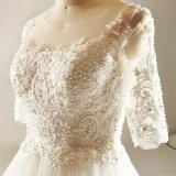 Eine Zeile, die Strand-Hochzeits-Kleid bördelt