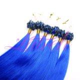 Virgem brasileira Cabelo grosso Anel Micro Extensões de cabelo
