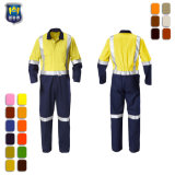 Orange Arbeitskraft-Gesamtuniform mit reflektierendem Band für Overall der Bergbau-Männer
