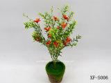 Plástico/Artificial/flores de seda Orchid&Hierba Bush (XF-S006)