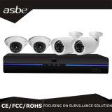 der Sicherheits-4CH Schreiber-Installationssätze Digitalkamera-des Systems-Ahd DVR mit 4 CCTV-Kameras