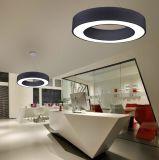 Ronda elegante colgante moderno anillo LED lámpara de techo de la luz