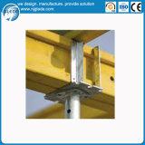 Molde concreto da laje em grande escala com os suportes de aço ajustáveis