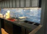 2018 최신 중국 목욕탕 벽 훈장 진한 파란색 사기그릇 모자이크 타일 45X195mm