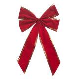 Arco rosso del velluto dei 4 cicli per la decorazione di festa
