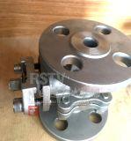 Vávula de bola manual de la plataforma 2PC del borde del acero inoxidable del molde alta