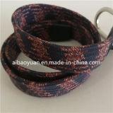 複数の着色されたワックスロープ編みこみのベルト