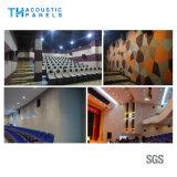 sala de concertos decorativa amigável do painel acústico de fibra de poliéster de 9mm Eco