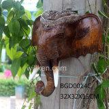 Decorazione capa animale della casa della resina della decorazione della parete dell'elefante asiatico sudorientale di stile