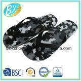 Flip-flop de interior y al aire libre del deslizador de las sandalias de la correa de la playa del hogar del camuflaje del verano de los hombres