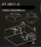Nuevo 1500mm Conner Bañera de hidromasaje (EN-6011-2)