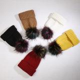 安いマルチカラーのどのアライグマの毛皮の球の大きい毛皮の長い毛POM POM