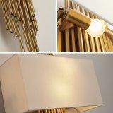 Lumière matérielle de mur de couleur d'or de tissu économiseur d'énergie de fantaisie d'hôtel