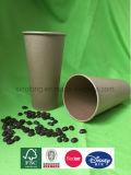 Tamaño grande de alta calidad de pared simple desechables vasos de papel Kraft