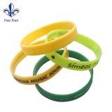 Design personnalisé de gros Bracelet Bracelet en caoutchouc de silicone
