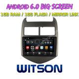 "Witson grande ecrã de 9"" com sistema Android 6.0 aluguer de DVD para Chevrolet Aveo 2011-2013"