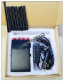 Versión actualizada de equipos portátiles de 8 bandas 4G LTE celular Jammer - Bloque 2G 3G 4G de la señal de teléfono - Single-Band Control + Cuatro Lados ranuras viento