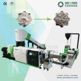 El plástico inútil recicla la máquina del granulador