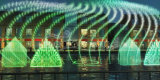 Grande fontaine de flottement allumée par DEL extérieure d'exposition de fontaine