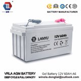 batterie solaire de gel de Profond-Cycle de 12V60ah VRLA